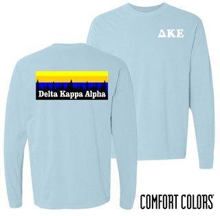 Delta Kappa Epsilon Outdoor Long Sleeve T-shirt - Comfort Colors
