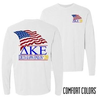 Delta Kappa Epsilon Patriot Long Sleeve T-shirt - Comfort Colors