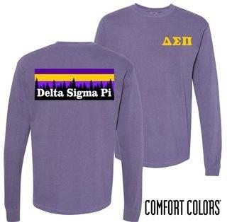 Delta Sigma Pi Outdoor Long Sleeve T-shirt - Comfort Colors