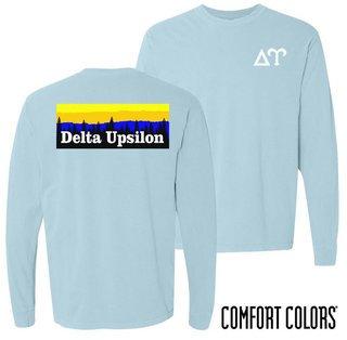 Delta Upsilon Outdoor Long Sleeve T-shirt - Comfort Colors