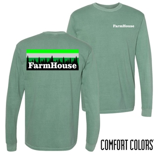 FarmHouse Fraternity Outdoor Long Sleeve T-shirt - Comfort Colors