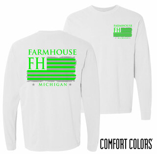 FarmHouse Fraternity Stripes Long Sleeve T-shirt - Comfort Colors