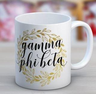 Gamma Phi Beta Wreath Coffee Mug