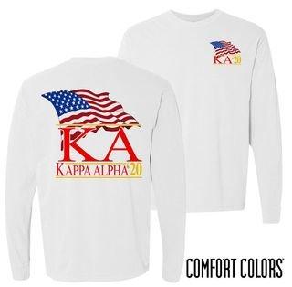 Kappa Alpha Patriot Long Sleeve T-shirt - Comfort Colors
