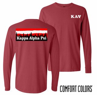 Kappa Alpha Psi Outdoor Long Sleeve T-shirt - Comfort Colors