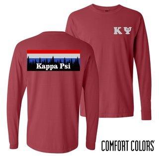 Kappa Psi Outdoor Long Sleeve T-shirt - Comfort Colors
