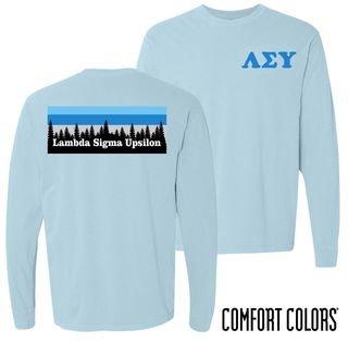 Lambda Sigma Upsilon Outdoor Long Sleeve T-shirt - Comfort Colors