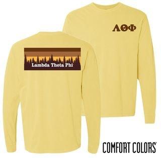 Lambda Theta Phi Outdoor Long Sleeve T-shirt - Comfort Colors