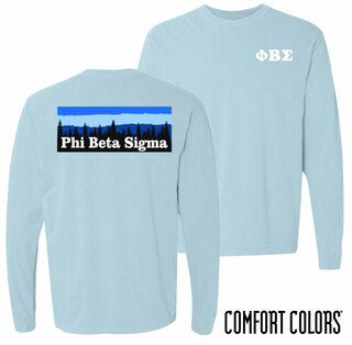 Phi Beta Sigma Outdoor Long Sleeve T-shirt - Comfort Colors