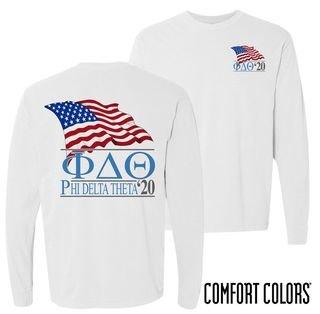 Phi Delta Theta Patriot Long Sleeve T-shirt - Comfort Colors