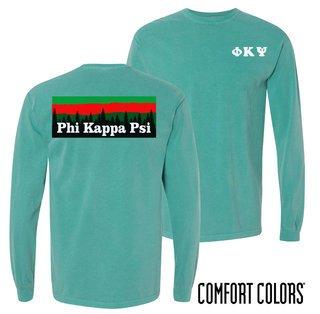 Phi Kappa Psi Outdoor Long Sleeve T-shirt - Comfort Colors