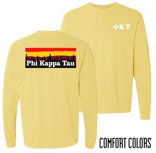 Phi Kappa Tau Outdoor Long Sleeve T-shirt - Comfort Colors