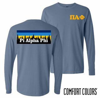 Pi Alpha Phi Outdoor Long Sleeve T-shirt - Comfort Colors