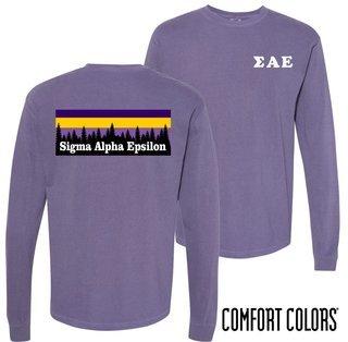 Sigma Alpha Epsilon Outdoor Long Sleeve T-shirt - Comfort Colors