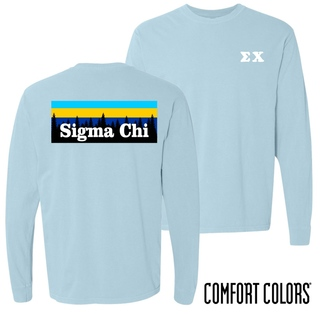 Sigma Chi Outdoor Long Sleeve T-shirt - Comfort Colors