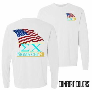 Sigma Chi Patriot Long Sleeve T-shirt - Comfort Colors