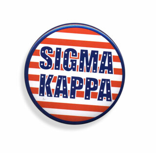 Sigma Kappa Patriotic USA Button