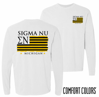 Sigma Nu Stripes Long Sleeve T-shirt - Comfort Colors