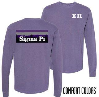 Sigma Pi Outdoor Long Sleeve T-shirt - Comfort Colors