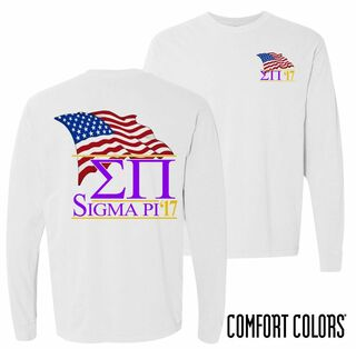 Sigma Pi Patriot Long Sleeve T-shirt - Comfort Colors