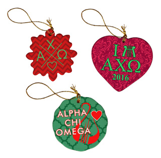 Sorority Porcelain Ornament Trio Set