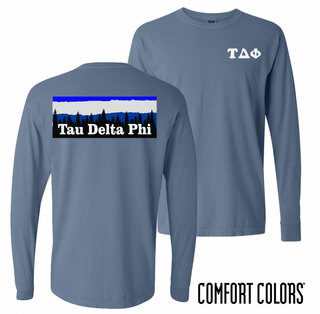 Tau Delta Phi Outdoor Long Sleeve T-shirt - Comfort Colors