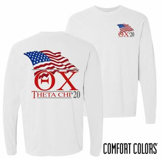 Theta Chi Patriot Long Sleeve T-shirt - Comfort Colors