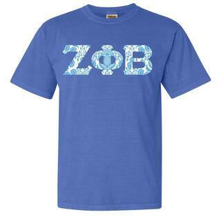 Zeta Phi Beta Comfort Colors Lettered Greek Short Sleeve T-Shirt