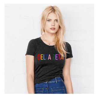 Sorority Rainbow Triblend Short Sleeve Tee