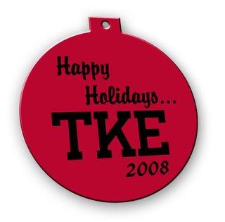 Tau Kappa Epsilon Holiday Ornament