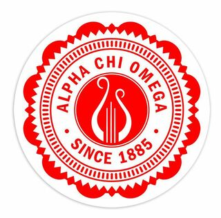 "Alpha Chi Omega 5"" Sorority Seal Bumper Sticker"
