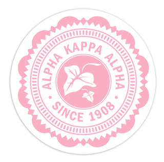 "Alpha Kappa Alpha 5"" Sorority Seal Bumper Sticker"