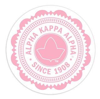 "Alpha Kappa Alpha 5"" Sorority Seal Bumper Sticker"