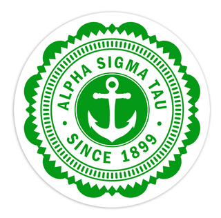 "Alpha Sigma Tau 5"" Sorority Seal Bumper Sticker"