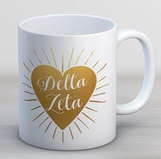Delta Zeta Heart Burst Coffee Mug