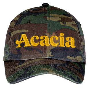 Acacia Fraternity Lettered Camouflage Hat