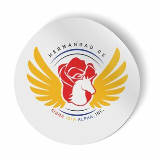 Sigma Iota Alpha Logo Round Decal