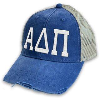 Alpha Delta Pi Distressed Trucker Hat