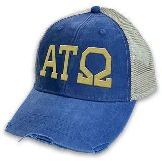 Alpha Tau Omega Distressed Trucker Hat