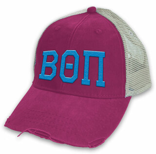 Beta Theta Pi Distressed Trucker Hat