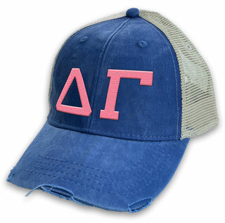 Delta Gamma Distressed Trucker Hat