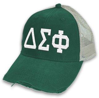 Delta Sigma Phi Distressed Trucker Hat
