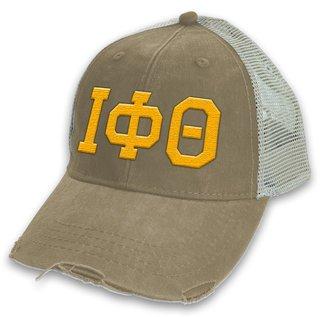 Iota Phi Theta Distressed Trucker Hat