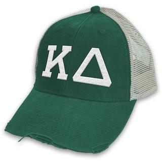 Kappa Delta Distressed Trucker Hat