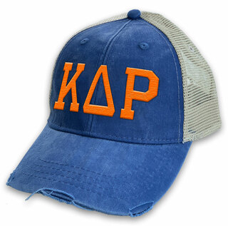 Kappa Delta Rho Distressed Trucker Hat