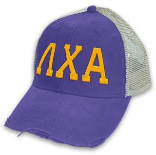 Lambda Chi Alpha Distressed Trucker Hat