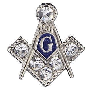 Mason 3/8'' Stone Lapel Pin In Silver