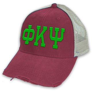 Phi Kappa Psi Distressed Trucker Hat