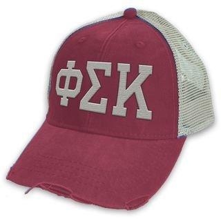 Phi Sigma Kappa Distressed Trucker Hat