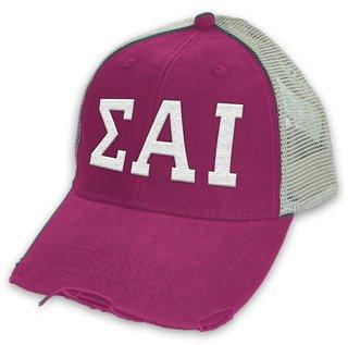Sigma Alpha Iota Distressed Trucker Hat
